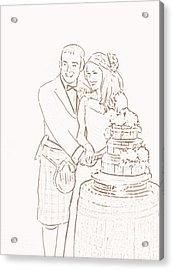 Scottish Wedding Acrylic Print by Olimpia - Hinamatsuri Barbu