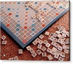 Scrabble Board Acrylic Print