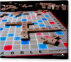 Scrabble Acrylic Print by Valerie Morrison