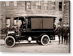 Scranton Pennsylvania  Bureau Of Police  Paddy Wagon  Early 1900s Acrylic Print