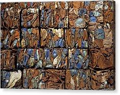 Scrap Metal Bales Acrylic Print by Dirk Wiersma