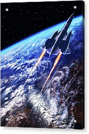 Scraping Outer Spheres Acrylic Print by Dave Luebbert
