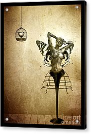 Scream Of A Butterfly Acrylic Print by Jacky Gerritsen