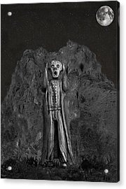 Scream Rock Acrylic Print by Eric Kempson