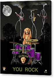 Scream Rock Soul Acrylic Print by Eric Kempson