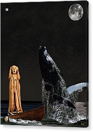 Scream With Humpback Whale Acrylic Print