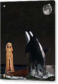 Scream With Orca Acrylic Print