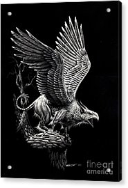 Screaming Griffon Acrylic Print by Stanley Morrison