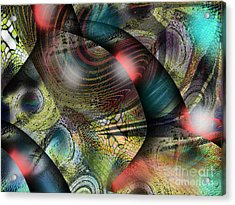 Screaming Spirals Acrylic Print