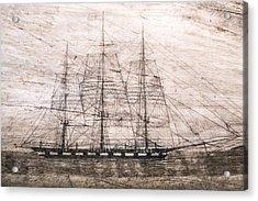 Scrimshaw Whale Panbone Acrylic Print