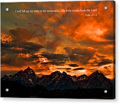 Scripture And Picture Psalm 121 1 2 Acrylic Print