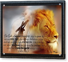 Scripture Art    Lamb Of God Acrylic Print