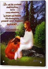 Scripture Art   Native Prayer Acrylic Print