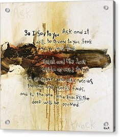 Scripture Christian Religious Abstract Art Print 111517 Acrylic Print by Michel Keck