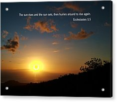 Scriture And Picture Ephesians 1 5 Acrylic Print by Ken Smith