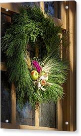 Scrivner Store Wreath Acrylic Print