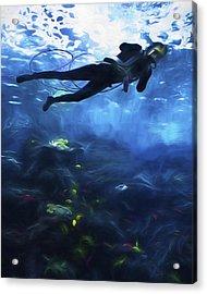 Scuba Diver Acrylic Print