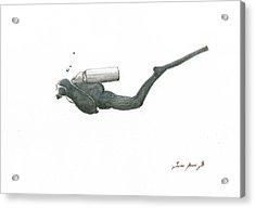 Scuba Diver  Acrylic Print by Juan Bosco