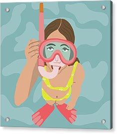 Scuba Girl Acrylic Print