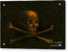 Scull And Crossbones Acrylic Print by David Lee Thompson