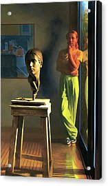 Sculptor Acrylic Print by Michael Newberry