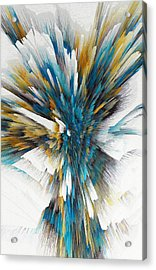 Acrylic Print featuring the painting Sculptural Series Digital Painting 08.072311ex490l by Kris Haas