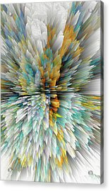 Acrylic Print featuring the digital art Sculptural Series Digital Painting 23.102011windextsc590l by Kris Haas
