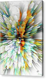 Acrylic Print featuring the digital art Sculptural Series Painting23.102011windblastsccvsext4100l by Kris Haas