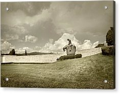 Acrylic Print featuring the photograph Sculpture - Assisi by John Hix