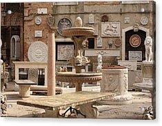 Sculpture Garden In Venice Acrylic Print by Michael Henderson