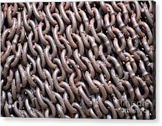 Sculpture Of Chain Acrylic Print