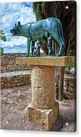 Acrylic Print featuring the photograph Sculpture Of The Capitoline Wolf With Romulus And Remus by Eduardo Jose Accorinti