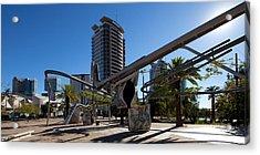 Sculpture, Parc De La Diagonal Mar Acrylic Print by Panoramic Images