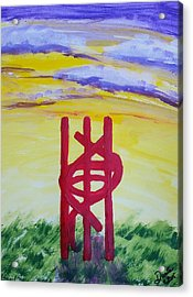 Acrylic Print featuring the painting Sculpture Park by Carol Duarte