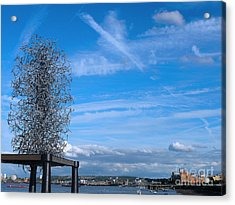 Sculpture, Skyline And Docs Acrylic Print