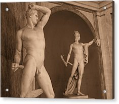 Sculpture Vatican Museum Rome Italy Acrylic Print by Wayne Higgs