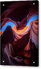 Sculptures Of Desert Acrylic Print by Edgars Erglis