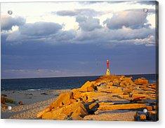 Acrylic Print featuring the photograph Scussett Beach Sunset by Greg DeBeck