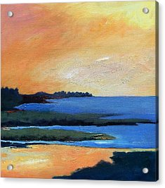 Acrylic Print featuring the painting Sea And Sky by Gary Coleman