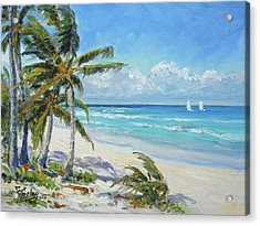 Sea Beach 12 - Punta Cana Acrylic Print
