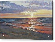 Sea Beach 8 - Baltic Sunset Acrylic Print
