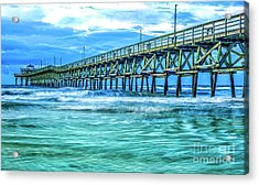 Sea Blue Cherry Grove Pier Acrylic Print