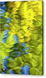Sea Breeze Mosaic Abstract Acrylic Print