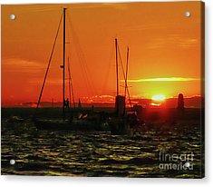 Sea Cliff Sunset Acrylic Print