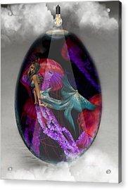 Sea Creature Mermaid Jellyfish Art Acrylic Print