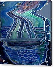 Sea Cruise Gone Wild Acrylic Print by Anne-Elizabeth Whiteway