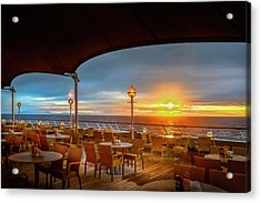 Acrylic Print featuring the photograph Sea Cruise Sunrise by John Poon