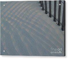 Sea Fence At Hunting Island Acrylic Print by Anna Lisa Yoder