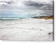 Acrylic Print featuring the photograph Sea Foam And Clouds By Kaye Menner by Kaye Menner