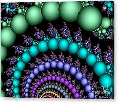 Acrylic Print featuring the digital art Sea Foam Dream by Sandra Bauser Digital Art